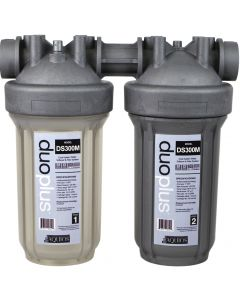 Aquios® DS300M Duo Salt Free Water Softener & Filter System, Antimicrobial, Chloramine Removal