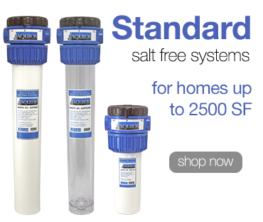 Salt free water softener systems